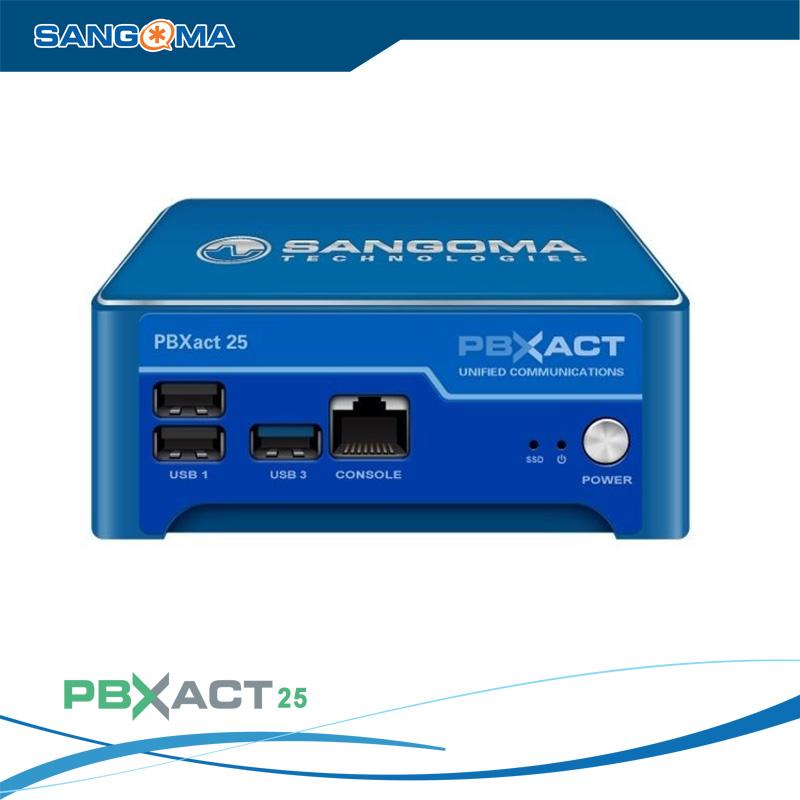 Tổng đài IP SANGOMA PBXACT UC 25 / 15 Simultaneous Calls