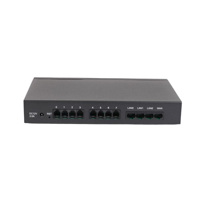 Hybrid Analog VoIP Gateway DAG1000-4S4O