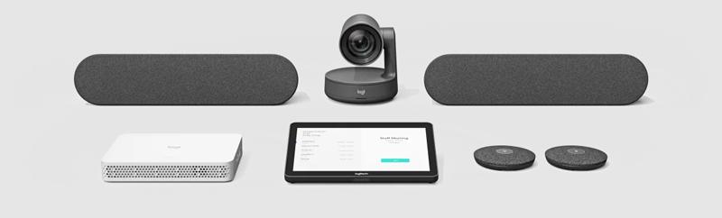 Logitech RoomMate có thể hoạt động với bộ thiết bị Rally Plus - hệ thống camera hội nghị theo mô-đun cao cấp của Logitech - cho các phòng họp lớn với đến 46 chỗ ngồi.