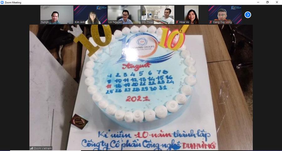 kỷ niệm 10 năm thành lập công ty cổ phần công nghệ Du Hưng